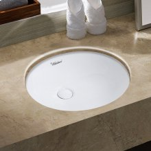 """Isabella Plus Collection 16"""" Oval Undermount Basin with Overflow and Rear Center Drain"""
