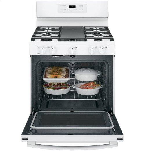 "SCRATCH & DENT- GE® 30"" Free-Standing Gas Convection Range"