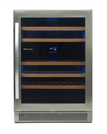 46 bottle - freestanding or built-in dual-zone wine cooler