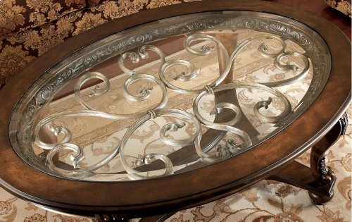 T499-0  Oval Cocktail Table