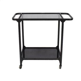 Metal & Glass Bar Cart, Black