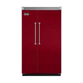 "Apple Red 48"" Quiet Cool™ Side-by-Side Refrigerator/Freezer - VISB Tru-Flush™ (48"" wide)"