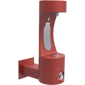 Elkay Outdoor EZH2O Bottle Filling Station Wall Mount, Non-Filtered Non-Refrigerated Red
