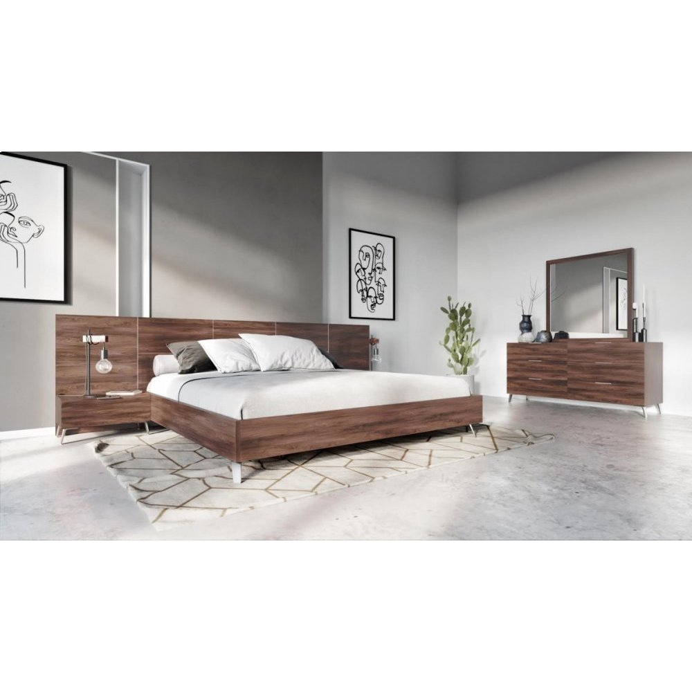 Nova Domus Brooklyn Italian Modern Walnut Bed