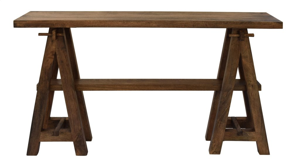 Crestview Collections Bengal Manor Mango Wood A-Frame Narrow Console