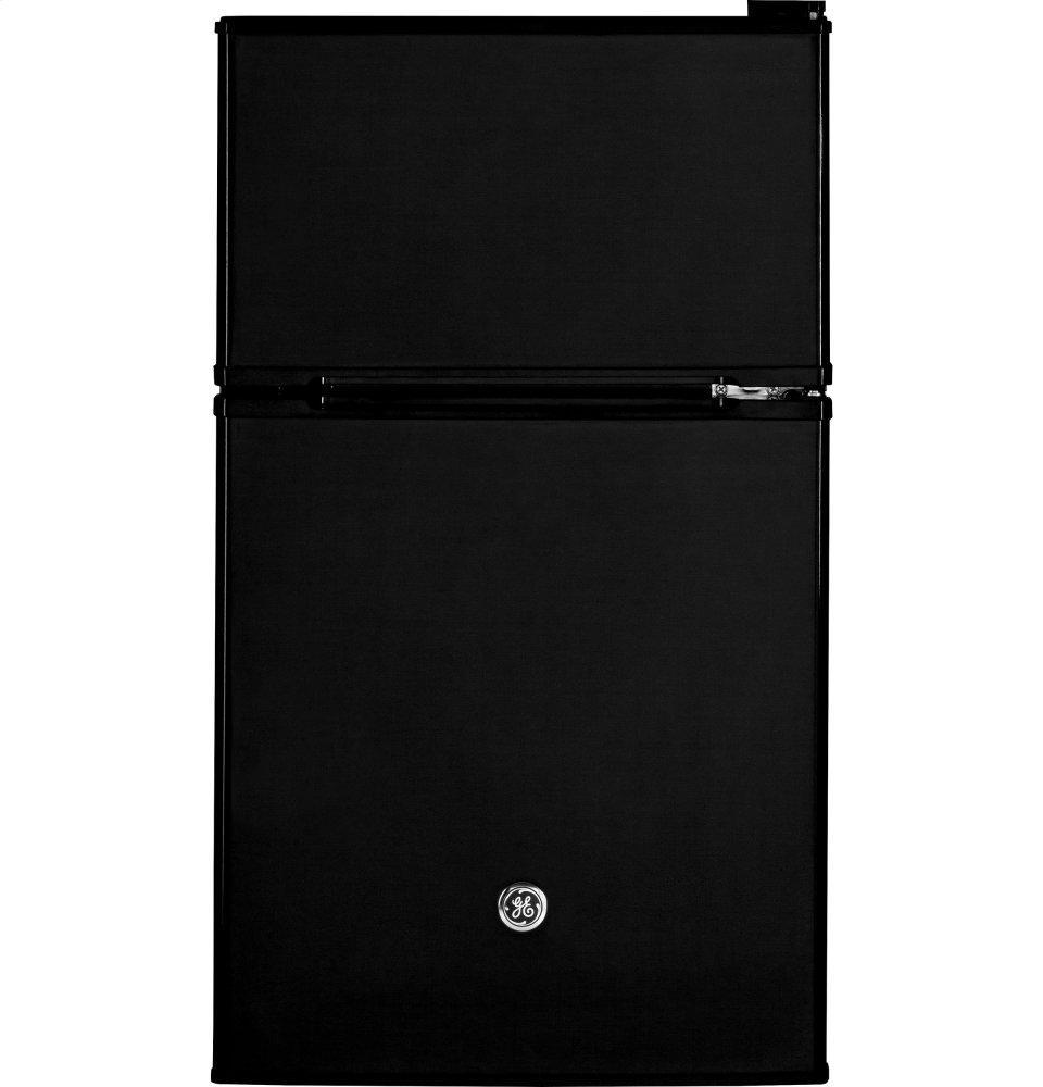 GE(R) Double-Door Compact Refrigerator  BLACK