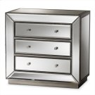 Baxton Studio Edeline Hollywood Regency Glamour Style Mirrored 3-Drawer Chest Product Image