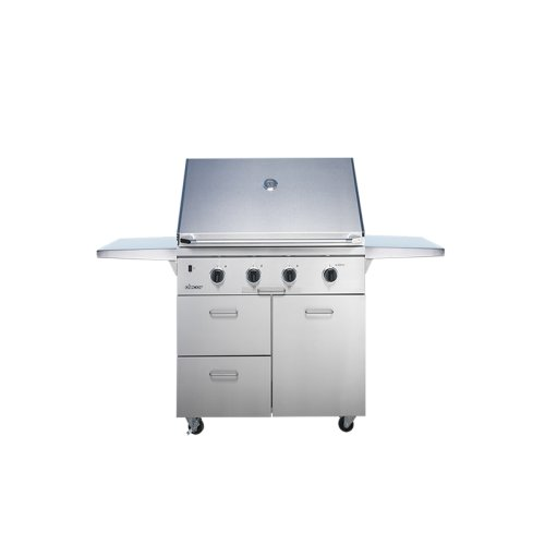 "Heritage 36"" Outdoor Grill with Infrared Sear Burner, Stainless Steel, Natural Gas"