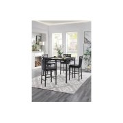 5-Piece Pack Counter Height Dinette Set, Faux Marble Top Product Image