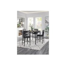 5-Piece Pack Counter Height Dinette Set, Faux Marble Top