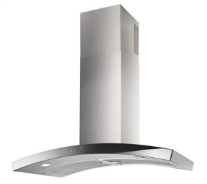 "Dune - 35-7/16"" Stainless Steel Chimney Range Hood with iQ6 Blower System, 600 CFM"