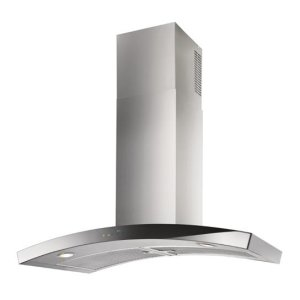 "BestDune - 35-7/16"" Stainless Steel Chimney Range Hood with iQ6 Blower System, 600 CFM"