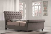 5/0 Upholstered Bed Kit Linen Mineral