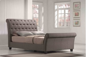 6/6 Upholstered Bed Kit Linen Mineral