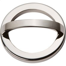 Tableau Round Base and Top 2 1/2 Inch - Polished Nickel