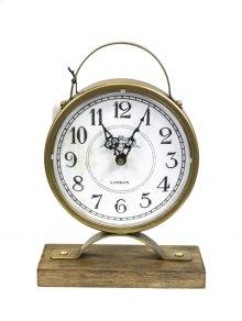 Metal Table Clock, Gold