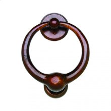 "7"" Round Door Knocker - DK7 Bronze Dark Lustre"