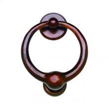 """7"""" Round Door Knocker - DK7 White Bronze Dark"""