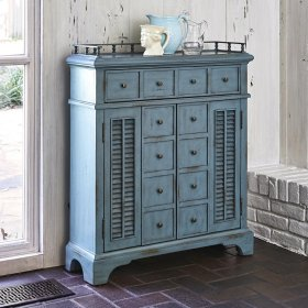 Montauk Hall Chest - Blue