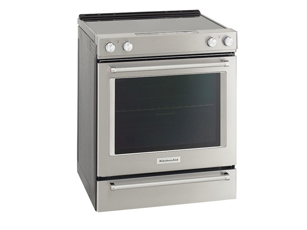 30 Inch 5 Element Electric Slide In Convection Range   Stainless Steel