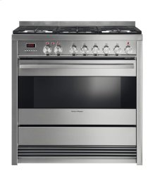 "Dual Fuel Range 36"", Self Cleaning"