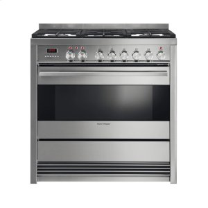 "Fisher & Paykel Dual Fuel Range 36"", Self Cleaning"