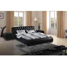 Modrest SBT8005 Contemporary Black Tufted Leatherette Bed