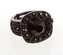 BTQ Black Rhinestone Ring