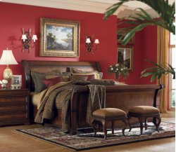 King Sleigh Bed Footboard