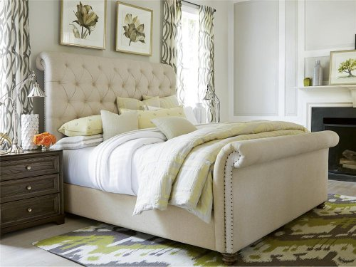The Boho Chic Queen Bed - Bohemian Oak