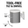 Sanus White Wireless Speaker Swivel And Tilt Wall Mounts Designed For Sonos One. Play:1, And Play:3