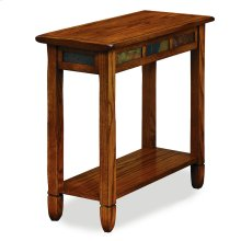 Rustic Oak Chairside Table #10060