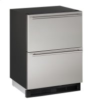 """1000 Series 24"""" Solid Refrigerator Drawers With Stainless Solid Finish and Drawers Door Swing"""