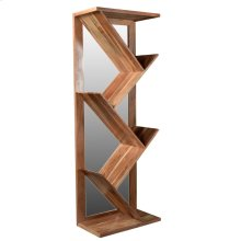 Bengal Manor Angled Wood and Mirror Etagere