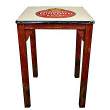 Antique Metal Top Pub Table
