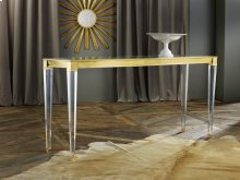Soho Console, Solid Brass With Lucite.