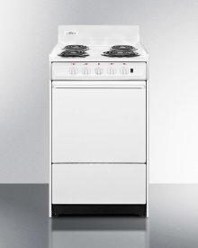 """20"""" Wide Electric Range With Indicator Lights and A Three-prong Line Cord"""