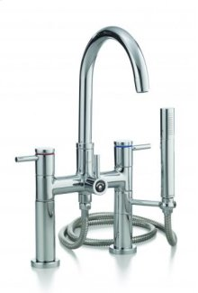 CONTEMPORARY Rim Mount Tub Faucet with Hand Shower