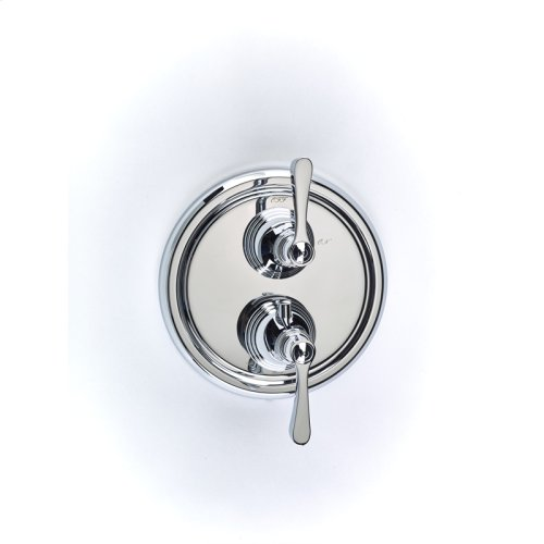 Dual Control Thermostatic with Volume Control Valve Trim Berea (series 11) Polished Chrome