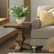 Hawthorne - Side Table - Barnwood Finish-Floor Sample