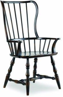 Sanctuary Spindle Arm Chair-Ebony