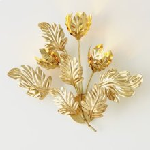 Dancing Leaves Sconce-Brass-Hardwired