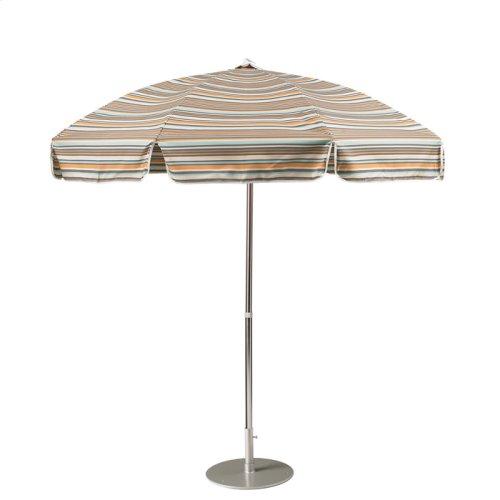 Aluminum Tilting, Octagon 7.5' Push Button, Manual Lift Umbrella