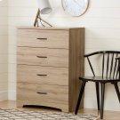 4-Drawer Chest Dresser - Rustic Oak Product Image