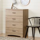 4-Drawer Chest Dresser - Rustic Oak Product Image