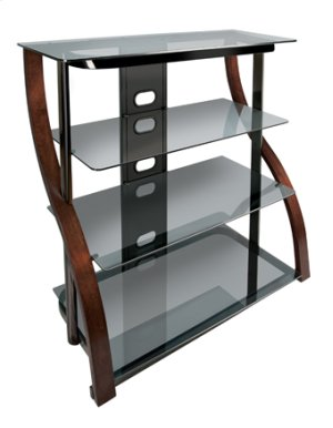Tall Design Curved Wood Audio/Video Furniture