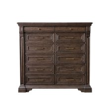 Bedford Heights 12 Drawer Master Chest in Estate Brown