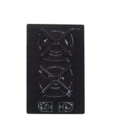 """Black 12"""" Gas on Glass Cook Top"""