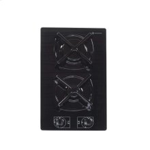"Black 12"" Gas on Glass Cook Top"