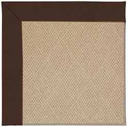Creative Concepts-Cane Wicker Canvas Bay Brown Machine Tufted Rugs